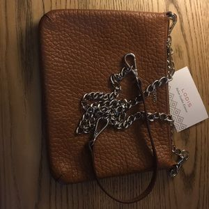 Lodis crossbody leather chain strap RFID block